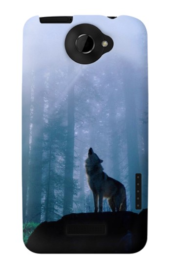 Printed Wolf Howling in Forest HTC One X Case