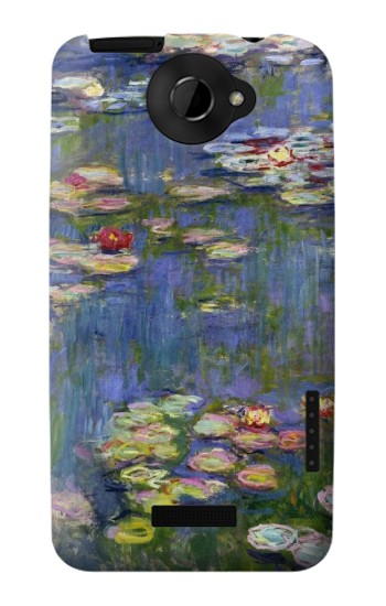 Printed Claude Monet Water Lilies HTC One X Case