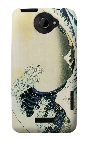 Printed Katsushika Hokusai The Great Wave of Kanagawa HTC One X Case