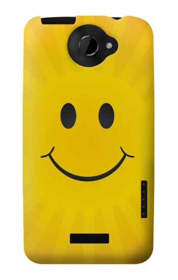 Printed Yellow Sun Smile HTC One X Case