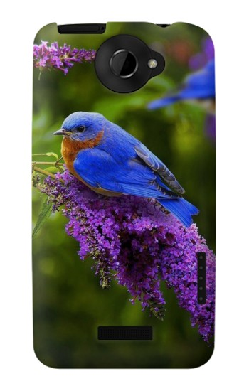 Printed Bluebird of Happiness Blue Bird HTC One X Case