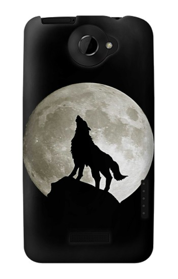 Printed Wolf Howling at The Moon HTC One X Case