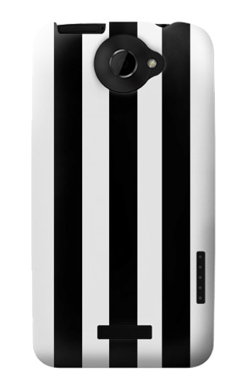 Printed Black and White Vertical Stripes HTC One X Case