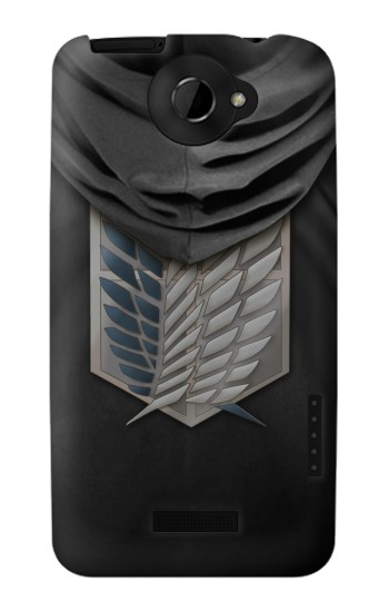 Printed Attack on Titan Scouting Legion Rivaille Black Cloak HTC One X Case