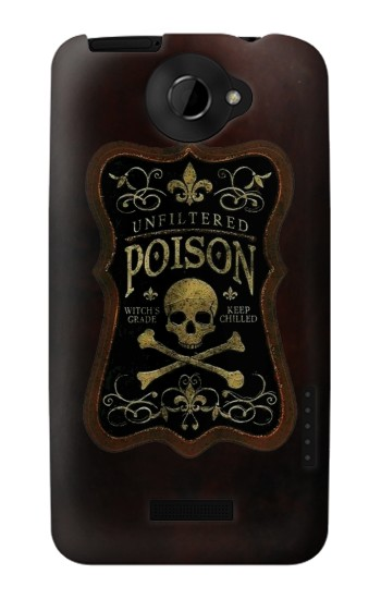 Printed Unfiltered Poison Vintage Glass Bottle HTC One X Case