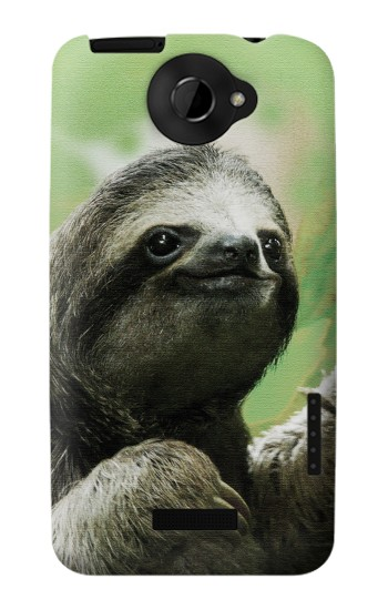 Printed Smiling Sloth HTC One X Case