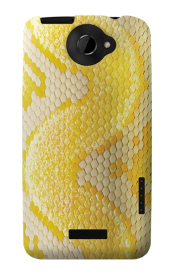 Printed Yellow Snake Skin HTC One X Case