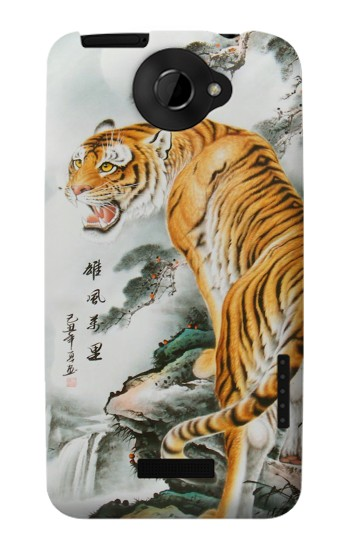 Printed Chinese Tiger Painting Tattoo HTC One X Case