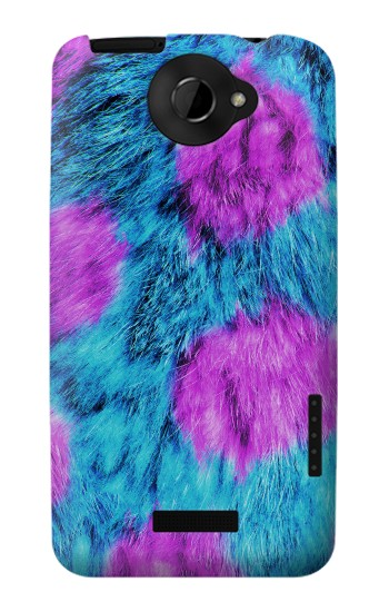Printed Fur Skin Monster HTC One X Case