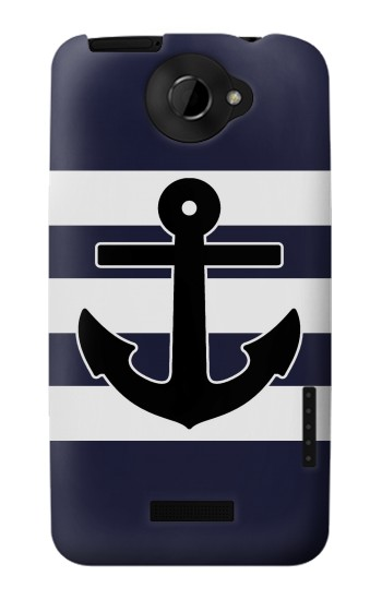 Printed Anchor Navy HTC One X Case