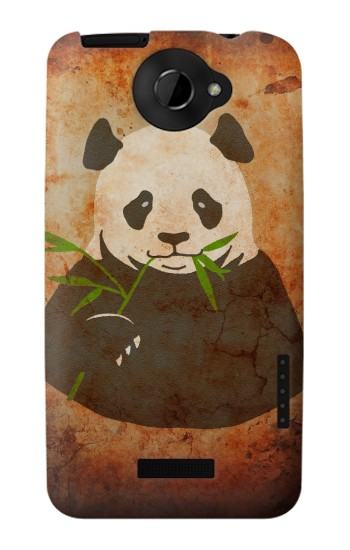 Printed Panda Vintage Texture HTC One X Case