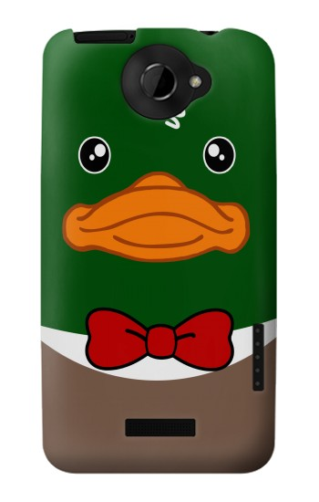 Printed Green Head Mallard Duck HTC One X Case
