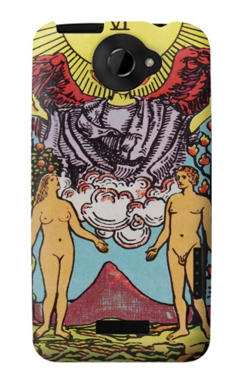 Printed Lovers Tarot Card HTC One X Case