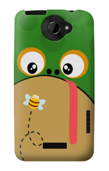 Printed Frog Bee Cartoon HTC One X Case