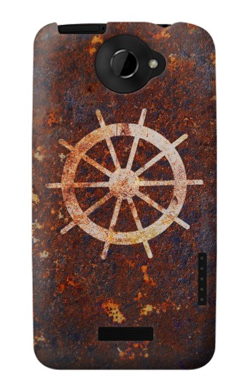 Printed Ship Wheel Rusty Texture HTC One X Case