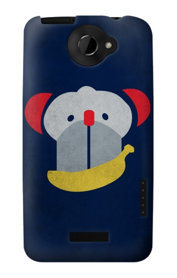 Printed Smiley Monkey Banana Minimalist HTC One X Case