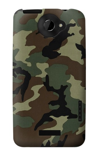 Printed Army Green Woodland Camo HTC One X Case
