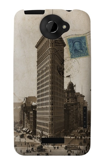 Printed New York 1903 Flatiron Building Postcard HTC One X Case