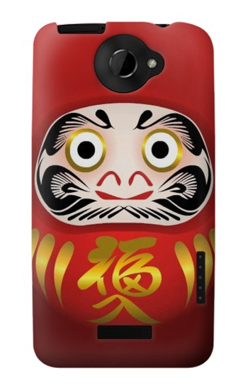 Printed Japan Daruma Doll HTC One X Case