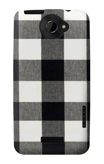 Printed Black and White Buffalo Check Pattern HTC One X Case