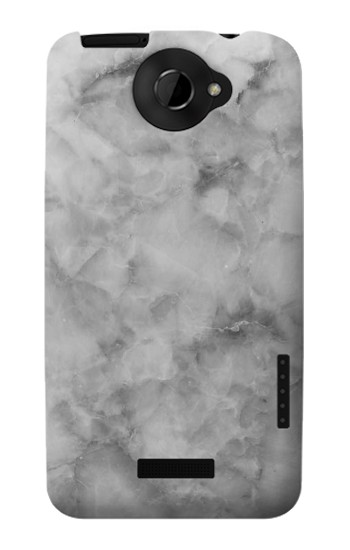 Printed Gray Marble Texture HTC One X Case