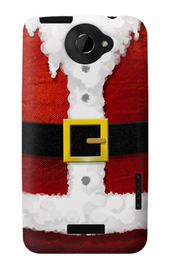 Printed Christmas Santa Red Suit HTC One X Case