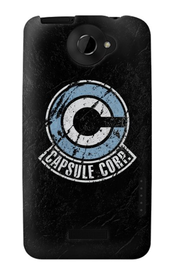 Printed Dragon Ball Capsule Corporation Black Rock HTC One X Case