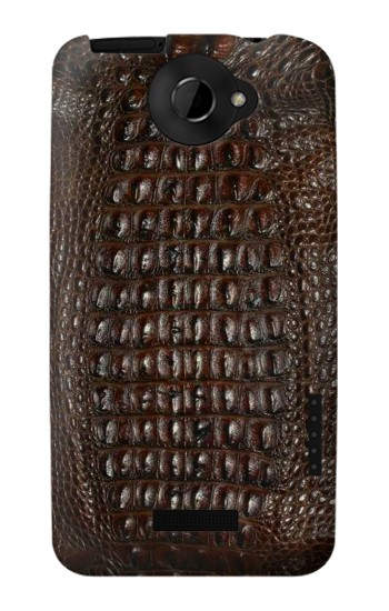 Printed Brown Skin Alligator Graphic Printed HTC One X Case