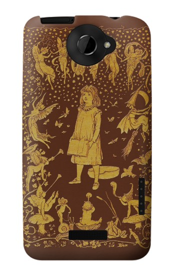 Printed Brown Fairy Book Cover HTC One X Case