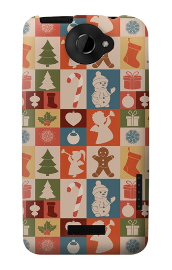 Printed Cute Xmas Pattern HTC One X Case