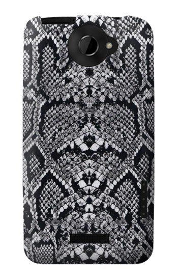 Printed White Rattle Snake Skin HTC One X Case