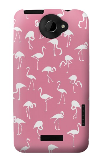 Printed Pink Flamingo Pattern HTC One X Case