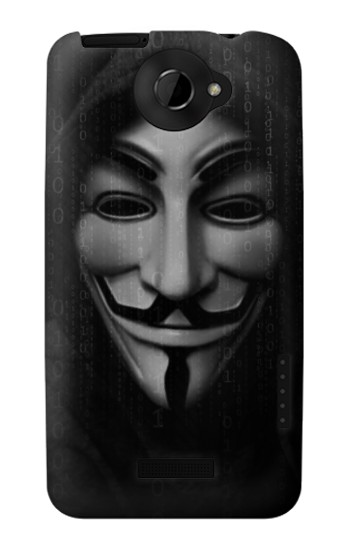 Printed Matrix Anonymous Mask Hacker HTC One X Case