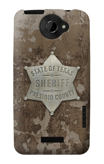 Printed Texas Presidio County Sheriff Badge HTC One X Case