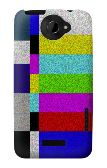 Printed Noise Signal TV HTC One X Case