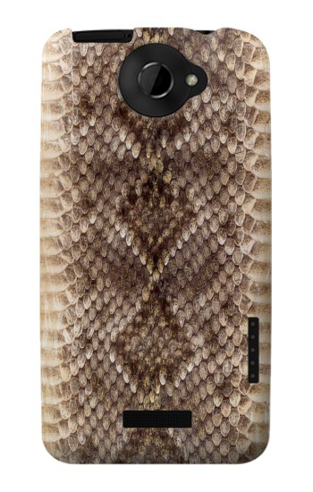 Printed Rattle Snake Skin HTC One X Case
