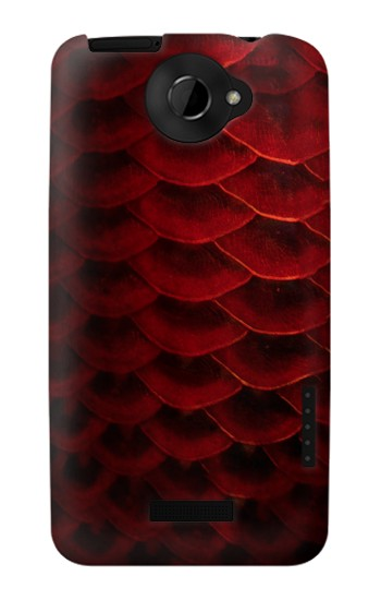Printed Red Arowana Fish Scale HTC One X Case