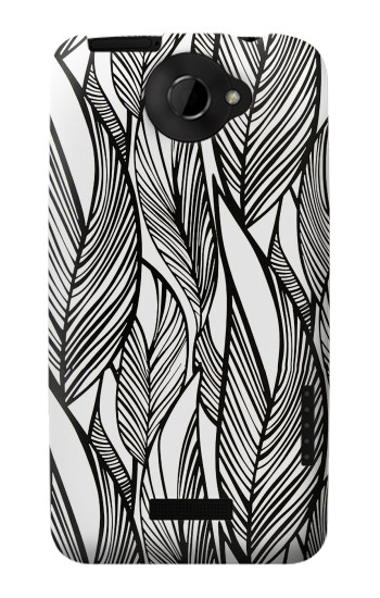 Printed Jungle Leaf Pattern HTC One X Case