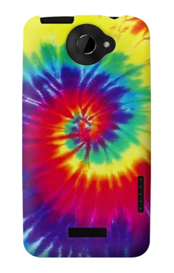 Printed Tie Dye Fabric Color HTC One X Case