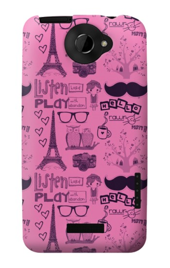 Printed Paris Pink HTC One X Case