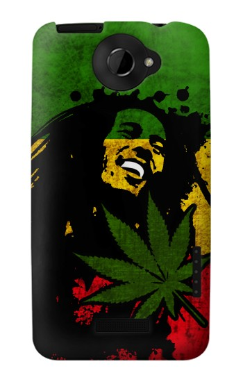 Printed Bob Marley Rasta Reggae Flag HTC One X Case