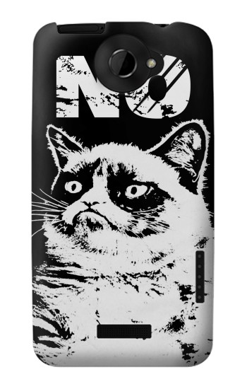 Printed Grumpy Cat No HTC One X Case