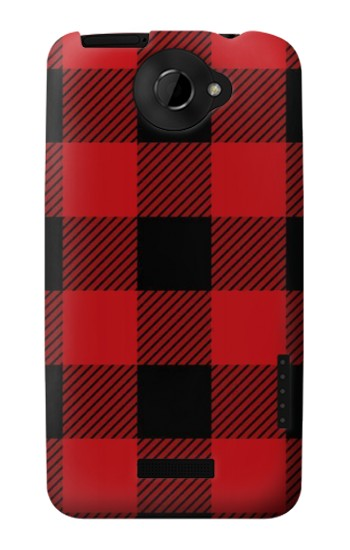Printed Red Buffalo Check Pattern HTC One X Case