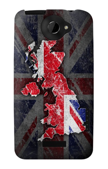 Printed UK British Flag Map HTC One X Case