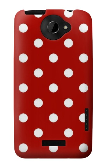 Printed Red Polka Dots HTC One X Case