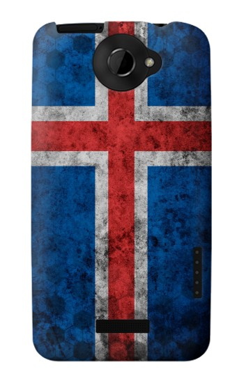 Printed Iceland Football Flag HTC One X Case