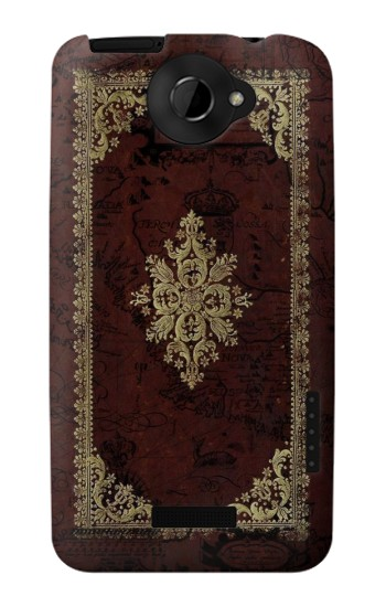 Printed Vintage Map Book Cover HTC One X Case