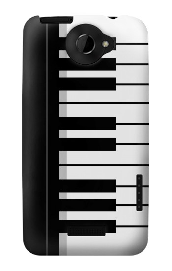 Printed Black and White Piano Keyboard HTC One X Case