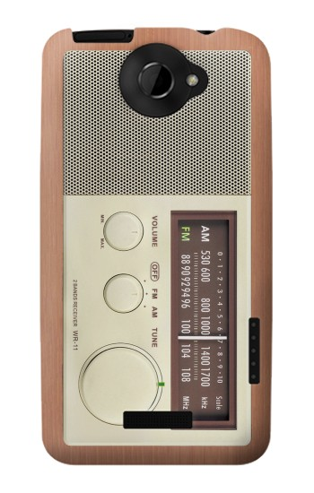 Printed FM AM Wooden Receiver Graphic HTC One X Case