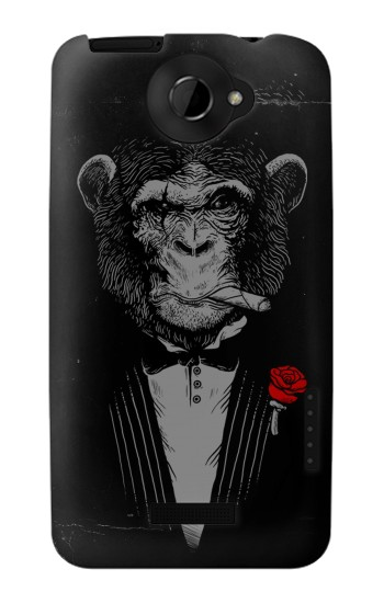 Printed Funny Monkey God Father HTC One X Case